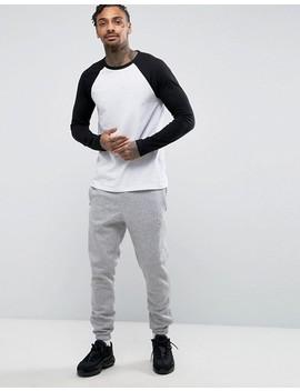 Asos Design   T Shirt à Longues Manches Raglan Contrastantes by Asos Design