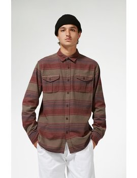 Katin Owen Stripe Flannel Long Sleeve Button Up Shirt by Pacsun