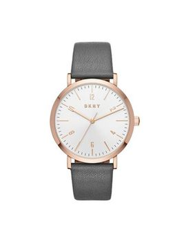 Dkny   Ladies Grey 'minetta' Leather Strap Watch by Dkny