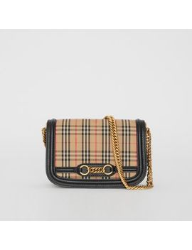 The 1983 Check Link Bag With Leather Trim by Burberry