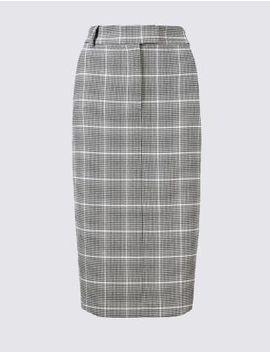 Checked Pencil Skirt by Marks & Spencer