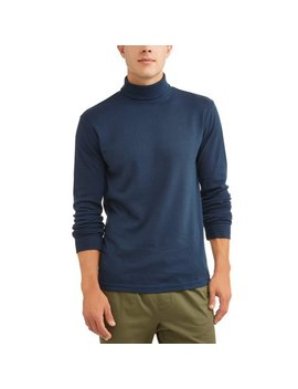 Men's Long Sleeve Turtle Neck, Up To Size 5 Xl by George