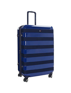 """Rugby Stripe 28"""" Upright Hardside Spinner by Tommy Hilfiger Luggage"""