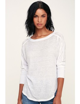 Solomon White Thermal Long Sleeve Top by Project Social T