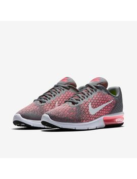 Nike Air Max Sequent 2 Womens Running Trainer Shoe Size 4.5   6 Grey Hot Punch by Nike