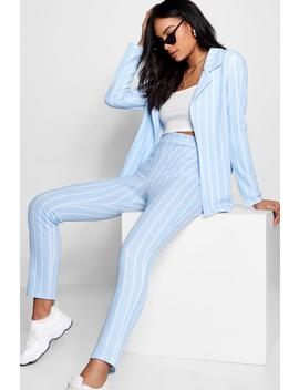 Stripe Tapered Trouser by Boohoo