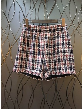 2018 Early Autumn New High Waist Lattice Plaid Design Decorative Jacks Shorts Casual Pants0808 by Wnsfcoly