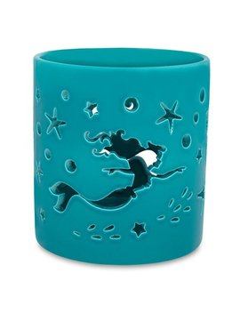 Disney Parks Nautical Little Mermaid Ariel Art Nouveau Glass Candle Holder New by Disney