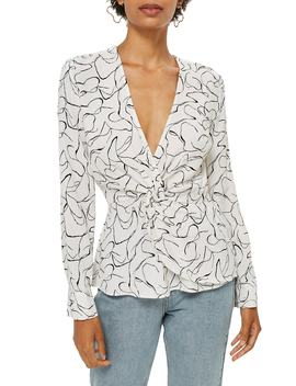 Obsession Twist Front Blouse by Topshop