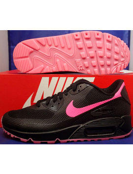 Womens Nike Air Max 90 Hyperfuse Premium I D Black Pink Sz 7.5 ( 822578 901 ) by Nike