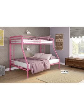 Dhp Twin Over Full Metal Bunk Bed Frame, Multiple Colors by Dhp