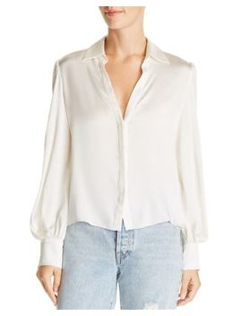 Shanda Bishop Sleeve Blouse by Alice And Olivia