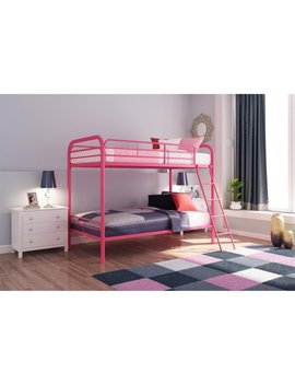 Dhp Twin Over Twin Metal Bunk Bed Frame, Multiple Colors by Dhp