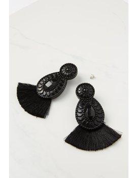 Baboshka Fan Tassel Statement Earring by Cotton On