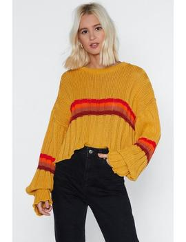 Be Sweater Behaved Striped Sweater by Nasty Gal