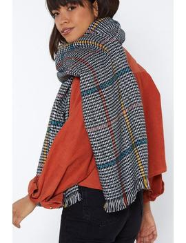 Hang On A Check Oversized Scarf by Nasty Gal