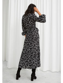 Petal Printed Wrap Dress by & Other Stories