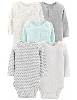 Simple Joys By Carter's Baby 5 Pack Long Sleeve Bodysuit by Simple+Joys+By+Carter27s
