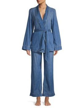 Two Piece Lafayette Cotton Pajama Set by Equipment