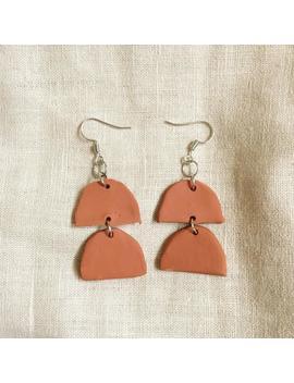 Horizon Terracotta Clay Earrings by Etsy