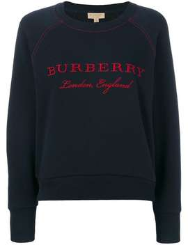 Burberry Embroidered Cotton Blend Jersey Sweatshirthome Women Burberry Clothing Sweaters Mirror Sneakers Embroidered Cotton Blend Jersey Sweatshirt by Burberry
