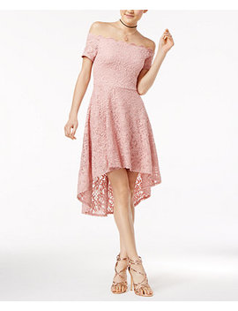 Juniors' Off The Shoulder Fit & Flare Dress by City Studios