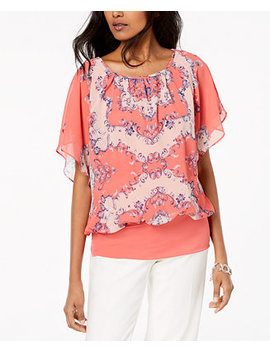 Flutter Sleeve Banded Hem Top, Created For Macy's by Jm Collection