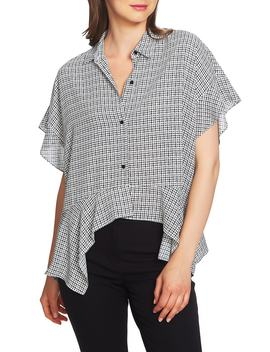 Mini Houndstooth High/Low Blouse by 1.State