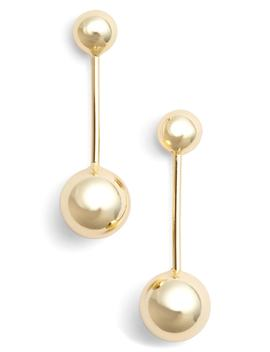 Small Sphere Linear Drop Earrings by Argento Vivo