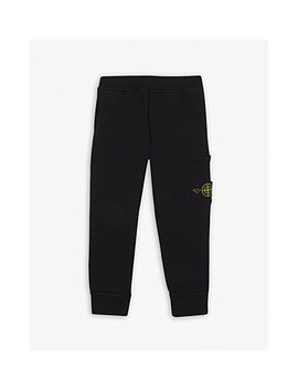 Logo Cotton Jogging Bottoms 4 14 Years by Stone Island