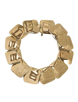 Hammered Square Necklace by Tuleste