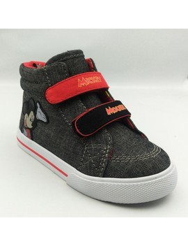 Toddler Boys' Disney® Mickey High Top Sneakers   Charcoal by Mickey Mouse