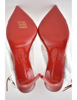 Nib Christian Louboutin Nosy 100 Red Flamenco Pvc T Strap Patent Heel Pump 38 by Christian Louboutin