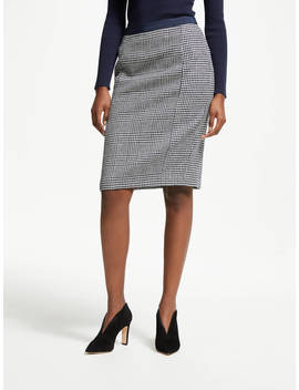 Boden Tweed Pencil Skirt, Navy And Ivory by Boden
