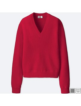 Pull En Maille Col V Uniqlo U Femme by Uniqlo