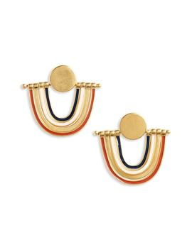 Enamel Rainbow Earrings by Madewell