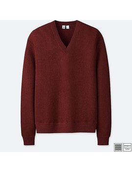 Pull En Laine Col V Uniqlo U Homme by Uniqlo