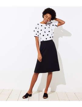 Ponte Midi Skirt by Loft