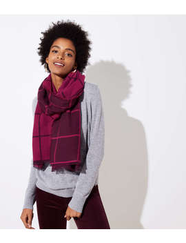 Reversible Plaid Jacquard Scarf by Loft