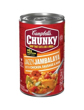 Campbell's® Chunky™ Jazzy Jambalaya With Chicken, Sausage & Ham Soup 18.6 Oz by Campbell's