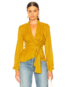 Velvet Wrap Top by Pat Bo