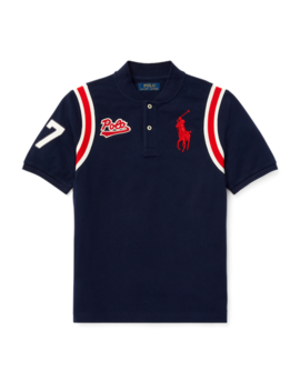 Cotton Mesh Baseball Shirt by Ralph Lauren