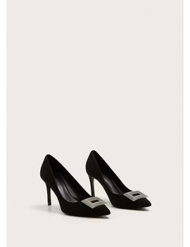 Sapato De Pele Strass by Mango