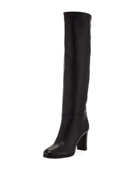 Madalie 80mm Leather Knee Boot by Jimmy Choo