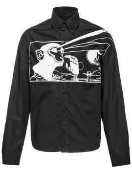 Monochrome Printed Shirt by Prada