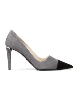 Two Tone Suede Pumps by Prada