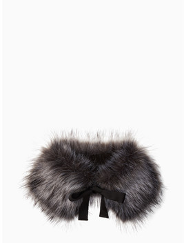 Silver Fox Faux Fur Collar by Kate Spade