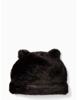 Faux Mink Hat With Ears by Kate Spade