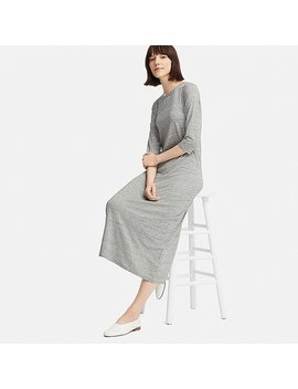 Women 3/4 Sleeve Bra Dress (Online Exclusive) by Uniqlo
