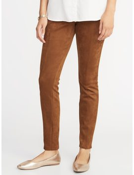 Stevie Faux Suede Ponte Knit Pants For Women by Old Navy